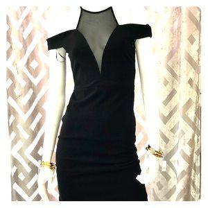 Dance and marvel Mesh V neck midi dress